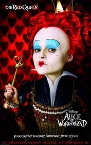 Alice in Wonderland [2010] ***  Great visuals, interesting story, great performances [except by Mia]