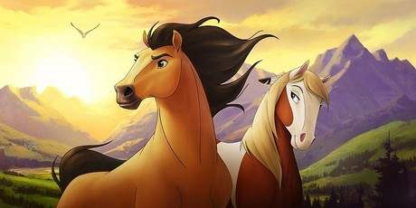 and whoelse mmm spirit and rain!from the movie spirit stallion of the cimmaron!