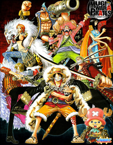 1. Monkey D. Luffy 2. Monkey D. Dragon 3. Roronoa Zoro 4. Shanks 5. Ace 6. Sanji 7. Franky 8. Chopper
