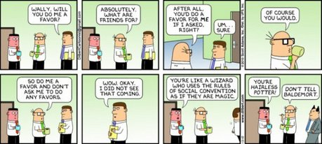 2525 (hehe). the fact that Scott Adams wrote Dilbert comics about Harry Potter. (dilbert.com- it has