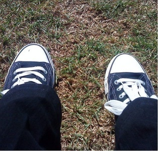 My turn!!! Yeah, it's a picture of my feet- coz I'm weird like that! XD But it is quite a lotta blac