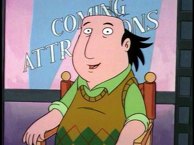 "They do that in ""The Critic"" too I think, but I don't recall where. http://www.myteespot.com"