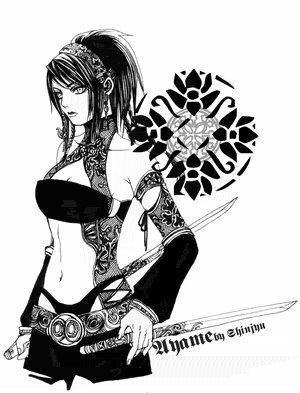 Name:Tsukiko<br /> Age:18<br /> Gender:Female<br /> City of Origin:Tokugawa<br /> Weapons:Daggers,nin