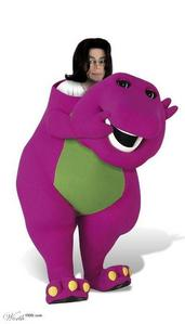 Sorry, this made me laugh. The caption was who is Barney? {Barney and Mr Blobby were both cancelle