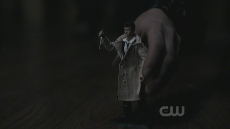 a shot where castiel is out of focus (blurry)