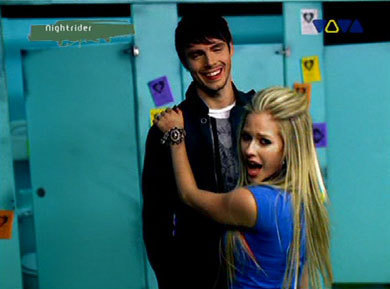 "ok..here ya go.its here dancing in her ""girlfriend"" video i want a pic of avril.. playing the pia"