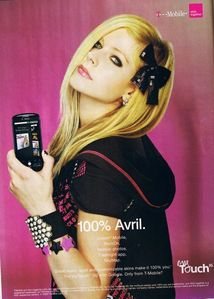 advertising t-mobile <3 ummm i want to see avril throwing a baseball