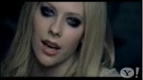 Here is a picture where Avril is गाना ;)...its in her vid 'when you're gone'.... I want a picture