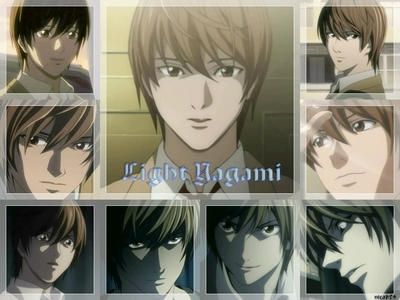 My favori character is Light Yagami too! I know he turns evil, but he's really smart and handsome!