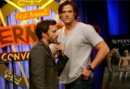 Sam and Dean doing their 'double mint' thing [like pulling FIB ideas out at the same time]