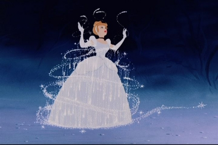 I also love the part where Cinderella gets transformed into her ballgown <333