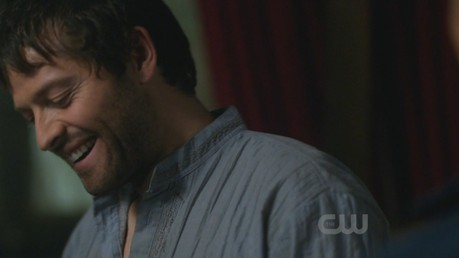 And I love this pic of hippy Cas because he's smiling :D