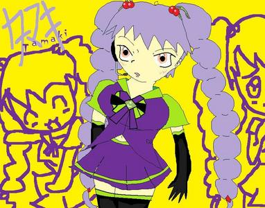 Vocaloid Name: Tamaki motosuwa Gender:female Age:16 Number:532 Hair Color and Style:long spiral pigta