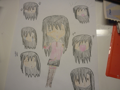 Vocaloid Name:Emi Inamine Gender:girl Age:11 Number:039 Hair Color and Style:black hair just straight