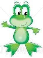 HERE IS OUR NEW MASCOT. HIS NAME IS FROGGY THE FANTASTIC FANPOPER!!! HE IS A SKILLED DANCER