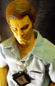 hey eyeryone, Here is a dexter morgan figure I just finished, he comes complete with ID pass, dustbi