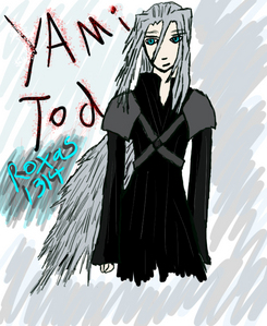 Name: Yami Tod Race: Half Somebody, Half Nobody, full bloodthirsty being. Weapon: Touch of the Void (