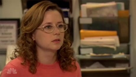 pam looks so hot lol. how about andy punching through the wall.