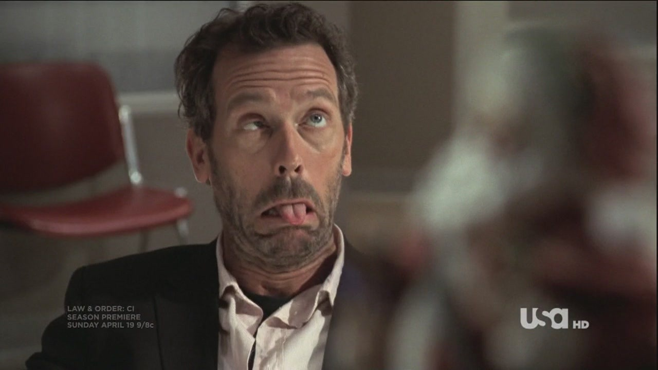 Image result for hugh laurie looking stupid