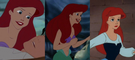 Ariel is the most beautiful princess IMO, but there are scenes where I think she just looks weird. [