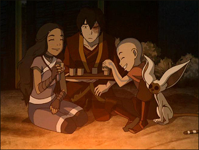Can bạn find me a picture of Aang firebending?