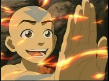 does this count? find me a picture of aang doing something awkward