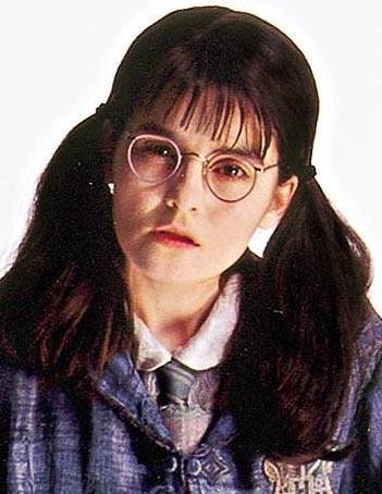 The actress who played Moaning Myrtle  in the harry potter movies is actually 37 years old and is the