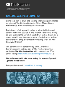 Show your fanaticism and be included in an exciting performance at New York's center for video, music