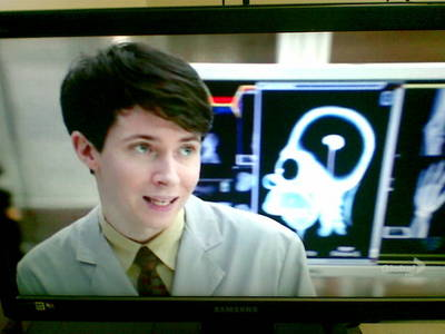 why is homer simpson in the background of this episode of bones. i dont remember what episode it is b