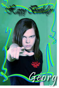 Happy Birthday Georg!!!! I hope anda have a great one!