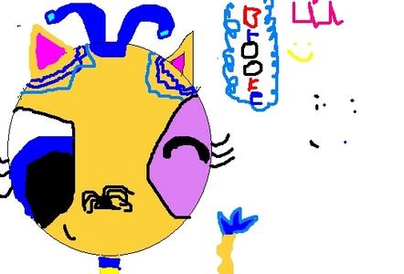 this is beccy cusin bruke she hasnt gotlong hair অথবা short she has a lilttel blue ribbon this is a goo