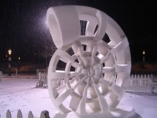 Its a snow sculpture from the International Snow Sculpture Championships,held in Breckenridge,Colorad