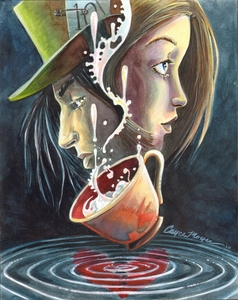 A Curiouser and Curiouser Series- The Pool of Tears is a stylized Fantasy steam-punk re-envisioning