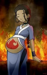 i found this pic on a fanfic website the fanfiction was about Katara was pregnant everyone new except
