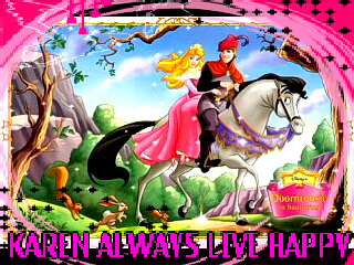 KEEP SMILING wallpaper called *KAREN I WISH LOTS ÖF HAPPINESS IN UR BEAUTIFUL LIFE*