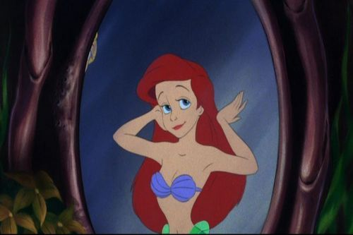 Ariel checking herself out