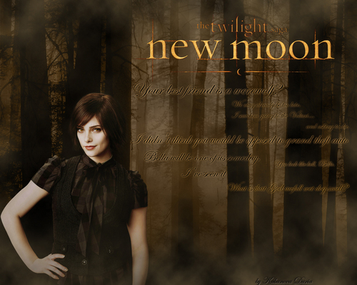 Ashley Greene/Alice Cullen like official new moon wallpaper.