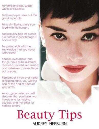 Audrey Hepburn's Beauty Tips !