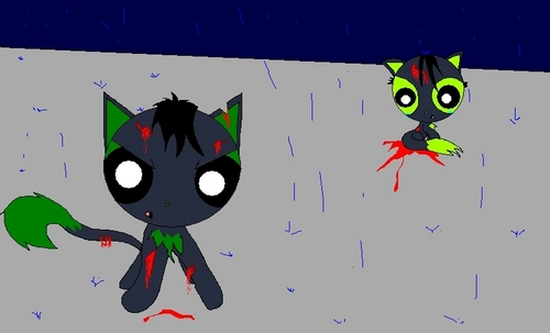 Powerpuff and rowdyruff animals wallpaper called Butch pretects Buttercup