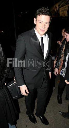 Cory Monteith outside অট্টালিকা Marmont after the SAG awards