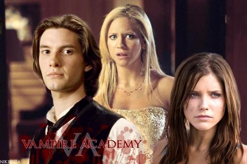 Vampire Academy wallpaper titled Dimitri & Rose & Lissa