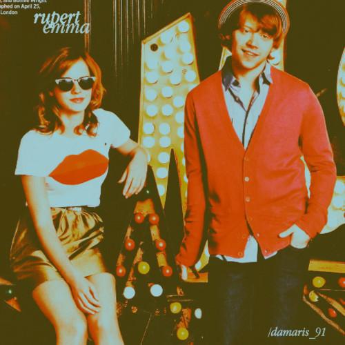 emma and rup rupert grint photo 10076720 fanpop