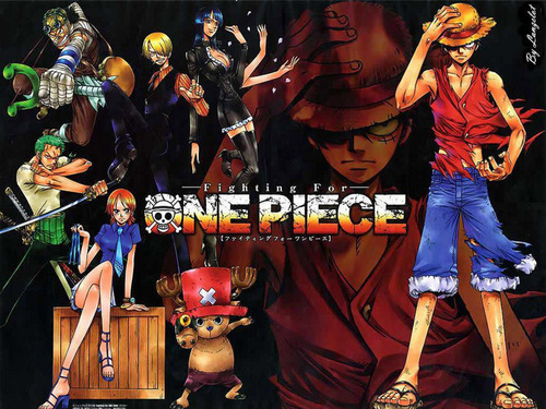One Piece kertas dinding entitled Fighting For One Piece