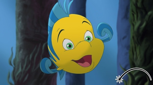 The Little Mermaid 3 images Flounder is Happy wallpaper ...
