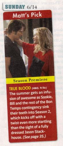 From the TV Guide