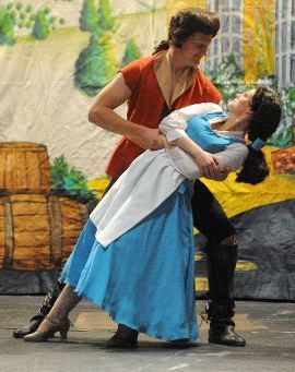 Gaston and Belle doing the Tango- LOL