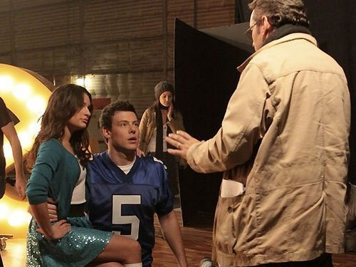Хор - Promotional фото [Behind the Scenes] - Cory and Lea