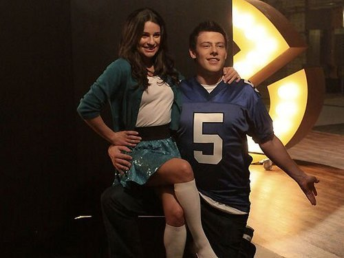 Glee - Promotional foto [Behind the Scenes] - Cory and Lea