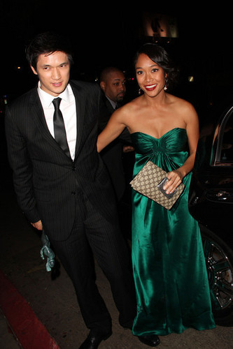 Harry Shum Jr outside महल, शताब्दी, chateau Marmont after the SAG awards