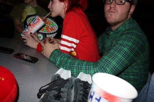 Hayley, Erica and Chad on bowling in Nashville